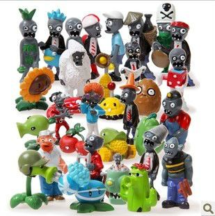Wholesale Product Snapshot Product name is wholesale plants vs zombies action figures 32pcs/set anime toys crazy party version ePacket free shipping fast freight