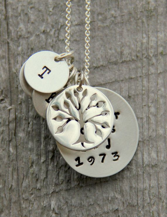 Personalized Family Tree Necklace, Anniversary Gift For Wife, Family Tree Necklace, Mothers Grandmother, Mother Of the Bride