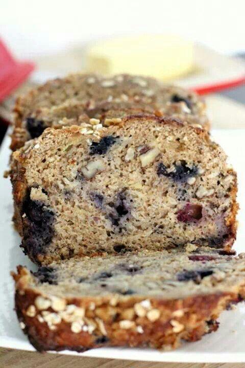 Blueberry banana oatmeal bread | FOOOOOD | Pinterest