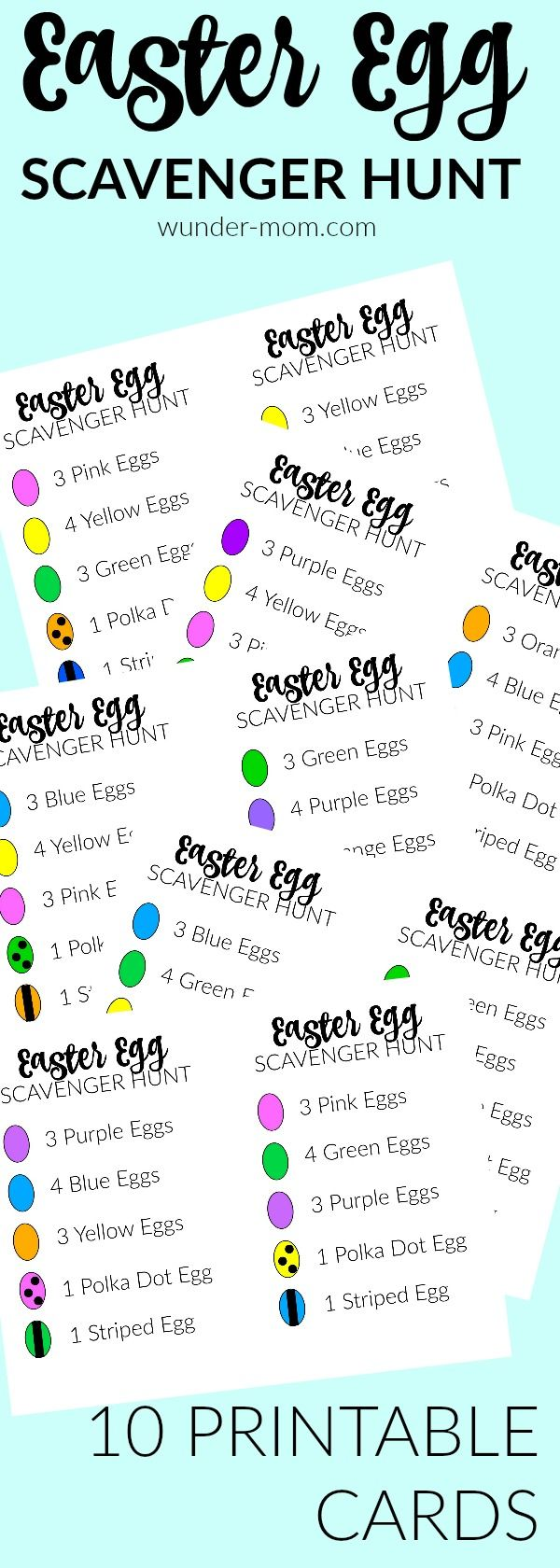 easter egg scavenger hunt - the kids are having a blast with these printable easter egg scavenger hunt cards!  Super fun Easter kids Activity   Easter activity | kids activity | preschool | pre-k | kindergarten | elementary school | Holidays | Sprint time | Spring activity