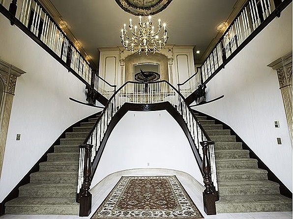 Nice double curved staircase step up pinterest for Double curved staircase