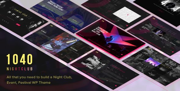 Free Download 1040 Night Club - DJ, Party, Music Club WordPress Theme