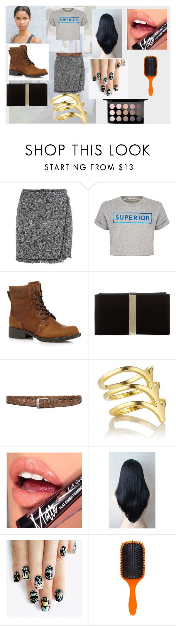 """""""all those long passages"""" by evacristelo ❤ liked on Polyvore featuring 7 For All Mankind, Être Cécile, Clarks, Roger Vivier, Smith/Grey, Fiebiger, alfa.K, Denman and MAC Cosmetics"""