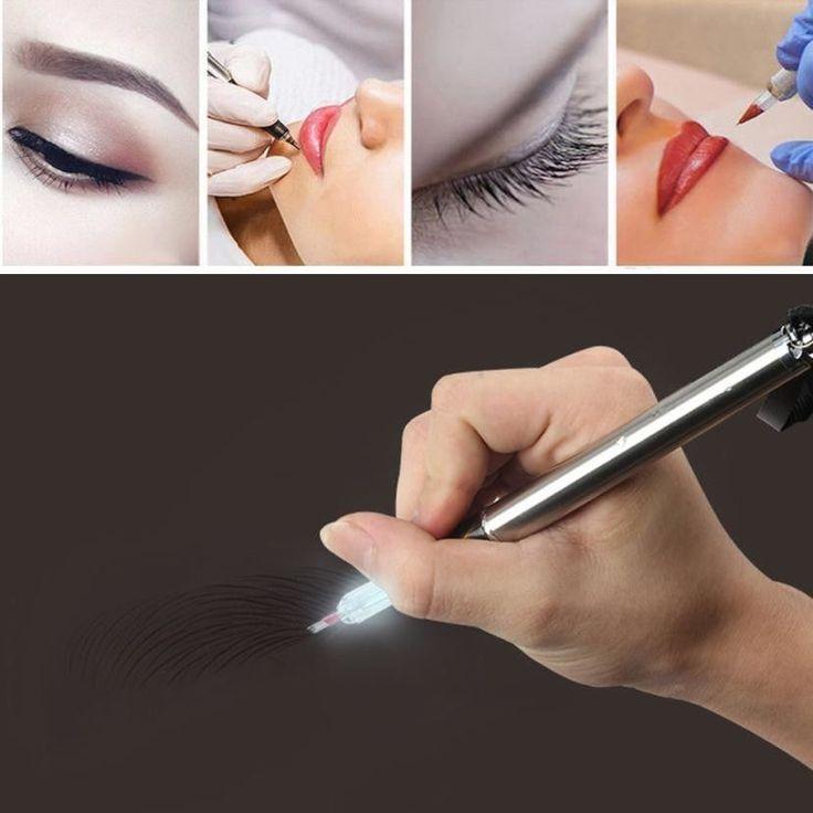 eyebrow permanent makeup pen With Light Tattoo Machine microblading needle blade | Health & Beauty, Tattoos & Body Art, Tattoo Supplies | eBay!