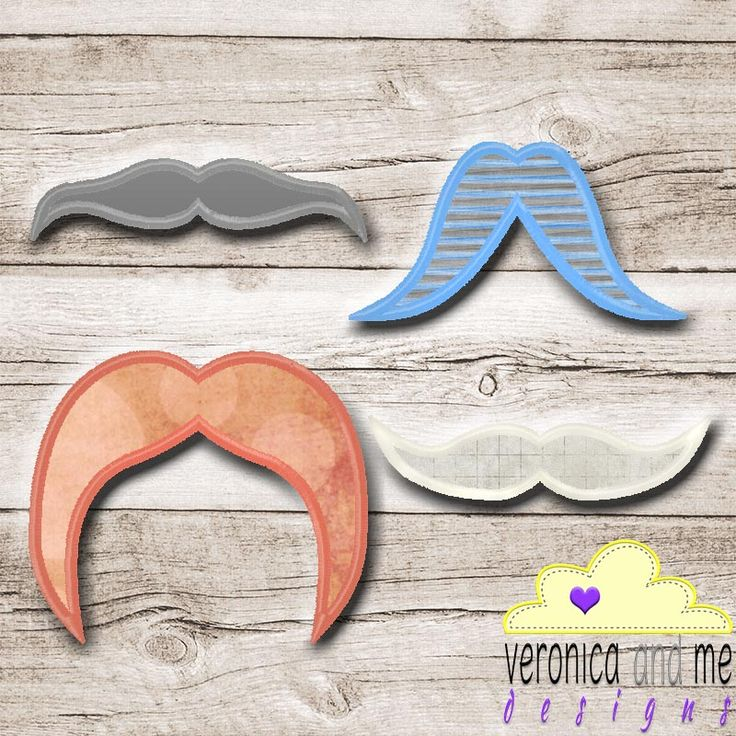 Moustaches are in right now so add some to your designs, the hipster in your life will love you for it – and your finished product will be exceptionally unique!  Make a moustache themed outfit with them!