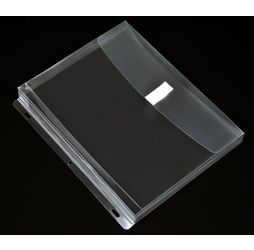Plastic Binder Envelope with gusset, Clear