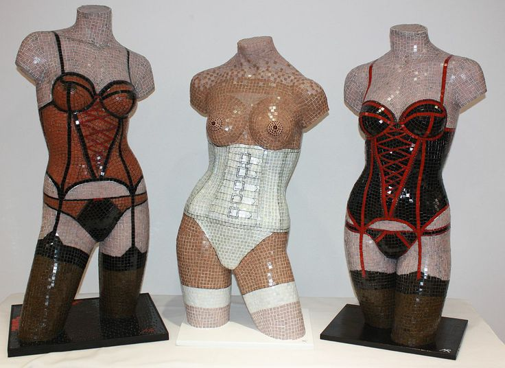 The Glass Mosaic lingerie trilogy by artist Mark Roberts