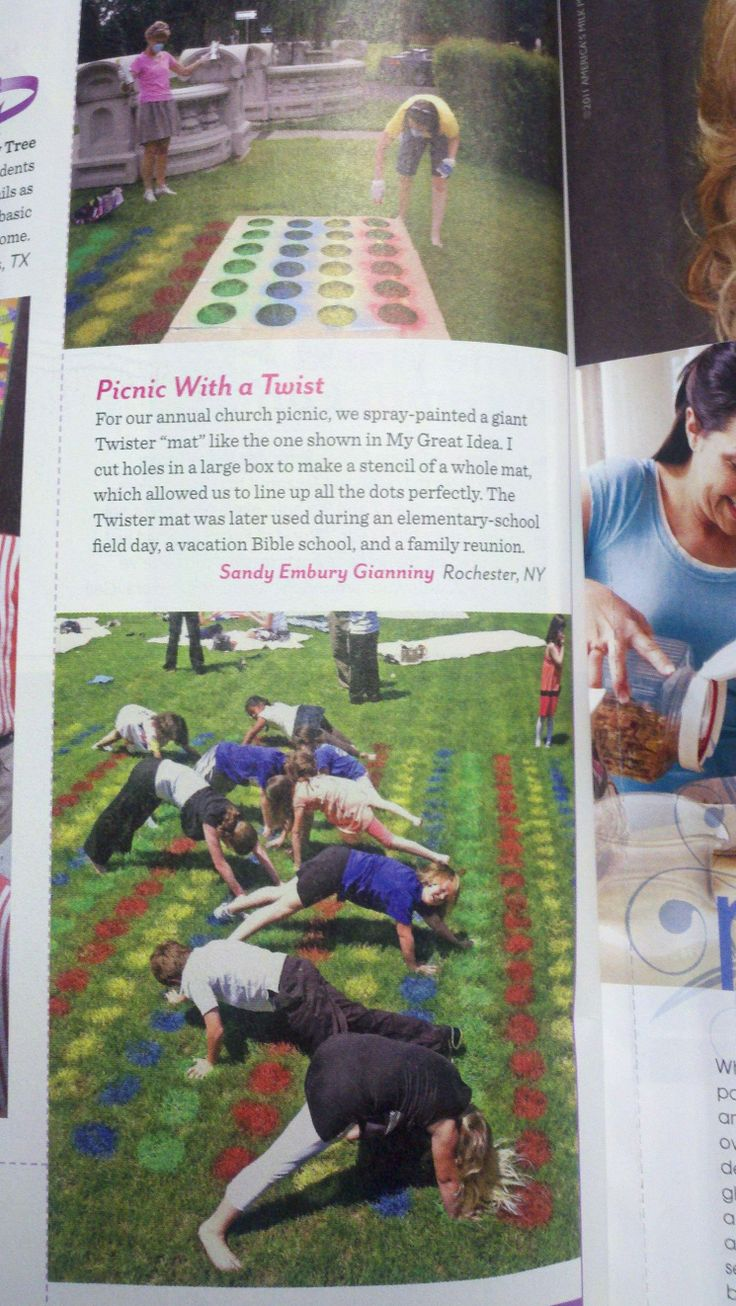 Lawn Twister... Great outdoor activity! This pic, taken from a magazine, shows how it looks on a large scale.
