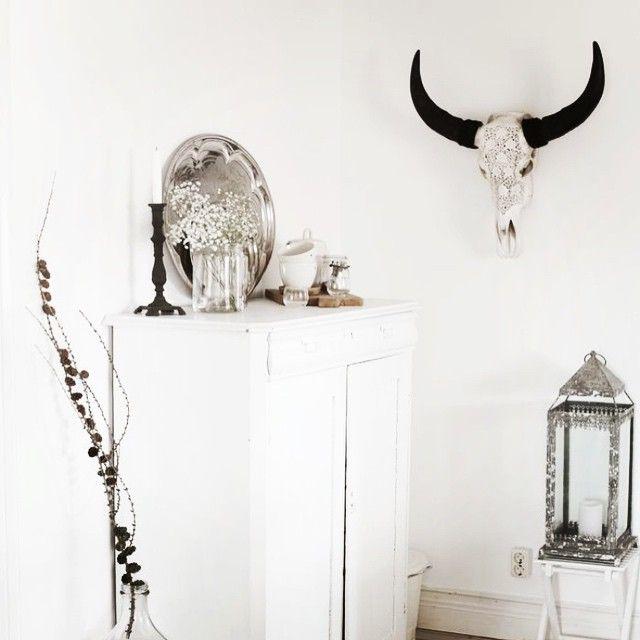 So classy and yet stylish... Our beautiful skulls were carved to impress! www.skullbliss.com #taxidermy #bullskull #bonecarving #carvedbones #decor #walldecor #horns #decoration #skullart #interiors #animalskull #bones #homedecor #interior