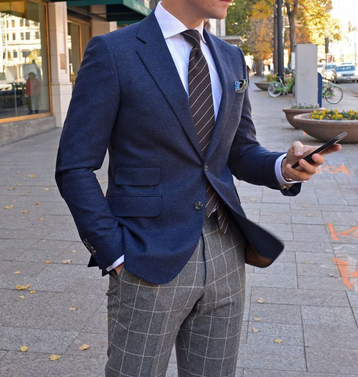 Navy Donegal Tweed | Store | Beckett & Robb