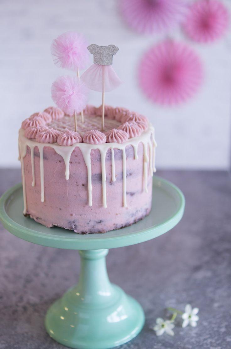 Geburtstagstorte: Raspberry Chocolate Pie & Deco Girl's Birthday   – Torten