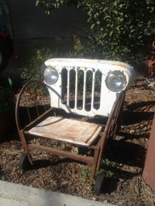 Shot Of A Classy Jeep Chair Made From Recycled And Reclaimed Materials At Renga Arts In