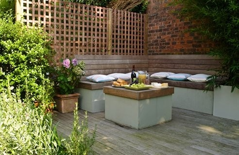 Built-in garden seating inspiration