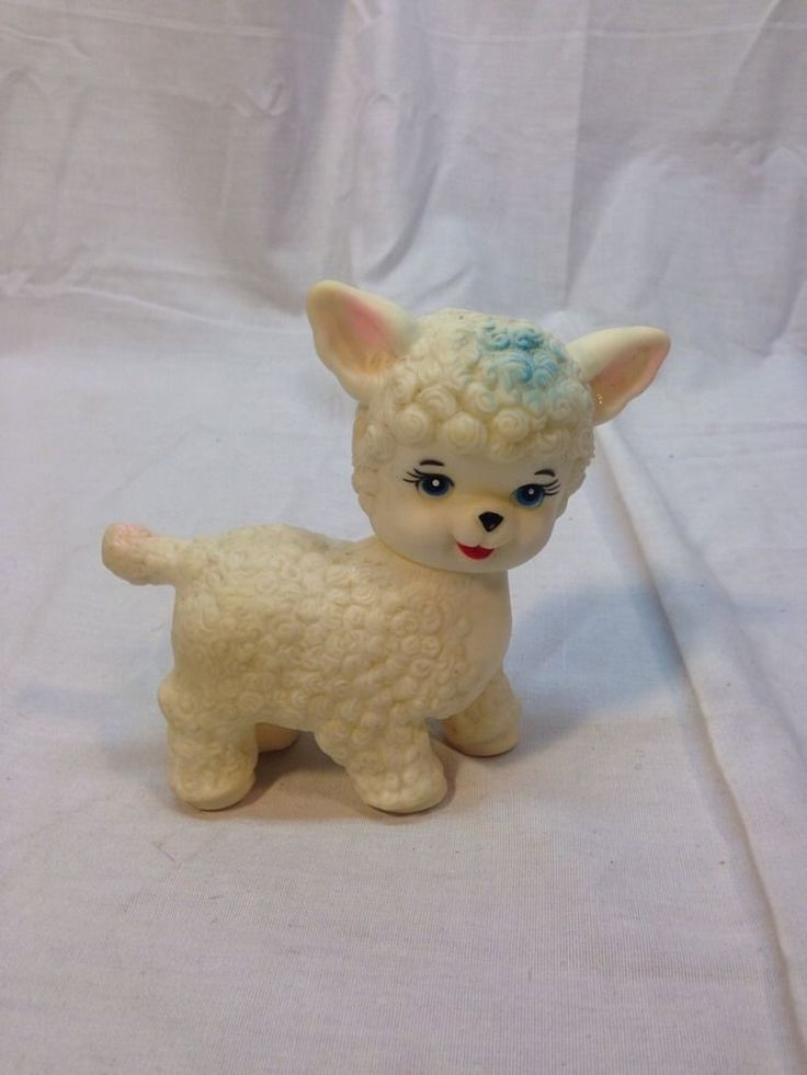 Rare Vintage Stahlwood Rubber Squeak Toy Lamb Toys