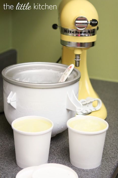 Lemon Lime Soda Sorbet & a KitchenAid Ice Cream Attachment Giveaway!