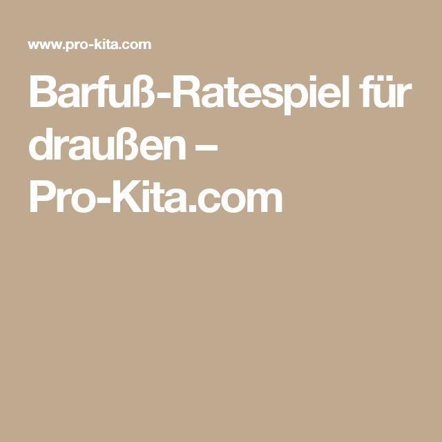 Barfuß-Ratespiel für draußen – Pro-Kita.com