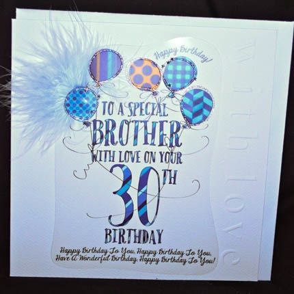 19 best handmade 30th birthday cards uk images on pinterest 30th handmade brother 30th birthday card large luxury birthday card 2015 2016 http bookmarktalkfo Images