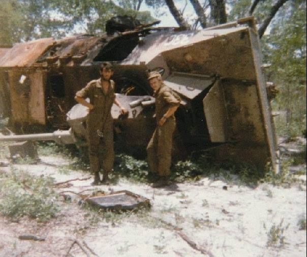 Ratel 33C was hit from behind by a Mig 23 most of the damages were caused from the ammo it carry inside