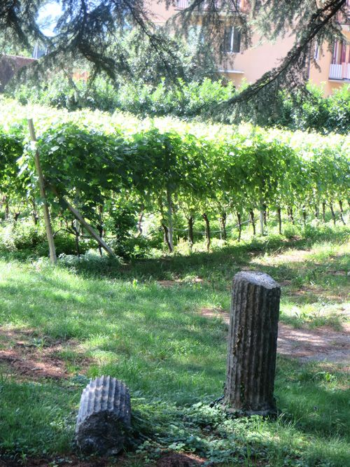 Antique pillars in the garden of the #Hofmannhof estate