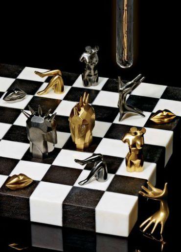 surreal chess set More