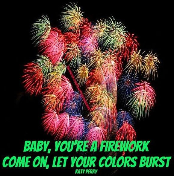 Katy Perry fireworks lyric quote via www.Facebook.com/SurfingRainbows