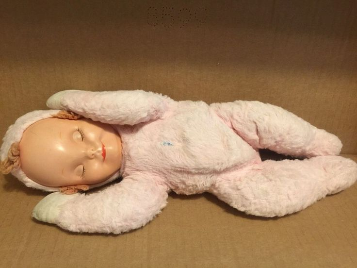 Vtg Knickerbocker Plush Stuffed Sleepy Head Baby Doll