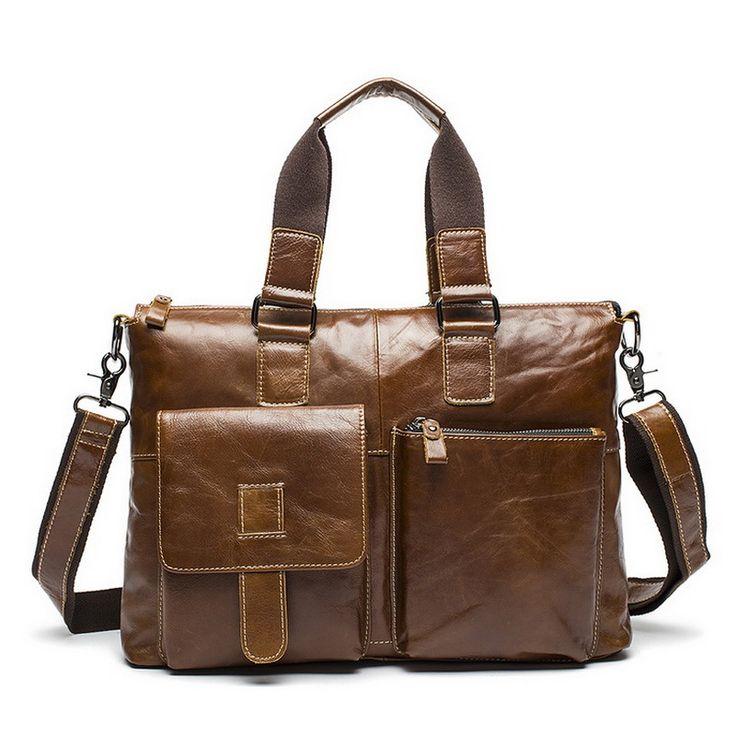 Купить Новый бренд бизнеса сумки из натуральной кожи портфель портфель мода для мужчин мешки плечевой ремень ноутбук сумка для мужчин из натуральной кожи сумку мужская сумка деловая сумки через плечо Мужская кожаная сумкаи другие товары категории Сумкив магазине Jake genuine leather bags storeнаAliExpress. сумка бесплатно пылесос и сумка леди хэллоуин костюм