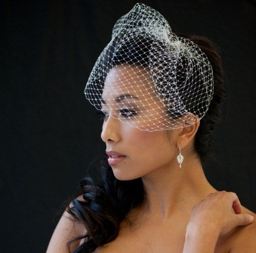 Birdcage Veil 9 Inch Birdcage Veil Wedding door PowderBlueBijoux, $32.00