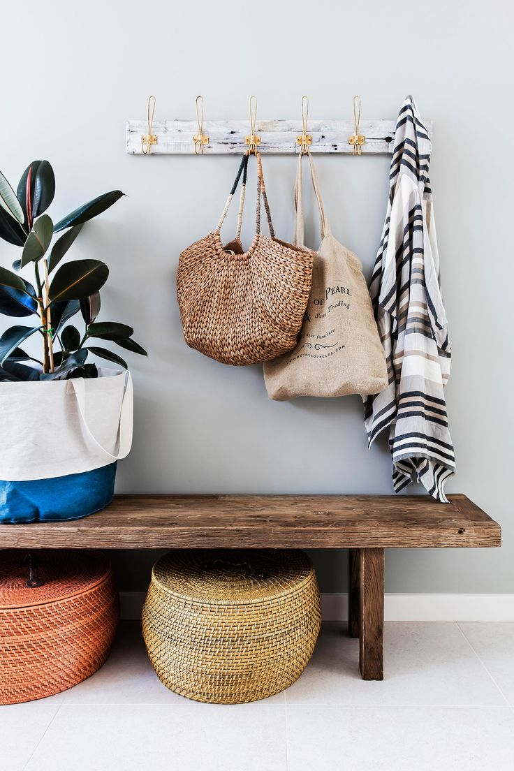 Entry from a stylish new home on the Hunter Coast of NSW. Photo: Maree Homer | Styling: Rebecca Fuge | Story: Australian House & Garden
