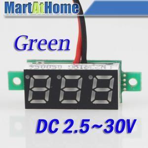 2 шт. высокая - точность цифровой вольтметр вольт панель метр DC 2.7 ~ 30 V 2-провода зеленый # BV187 @ CF