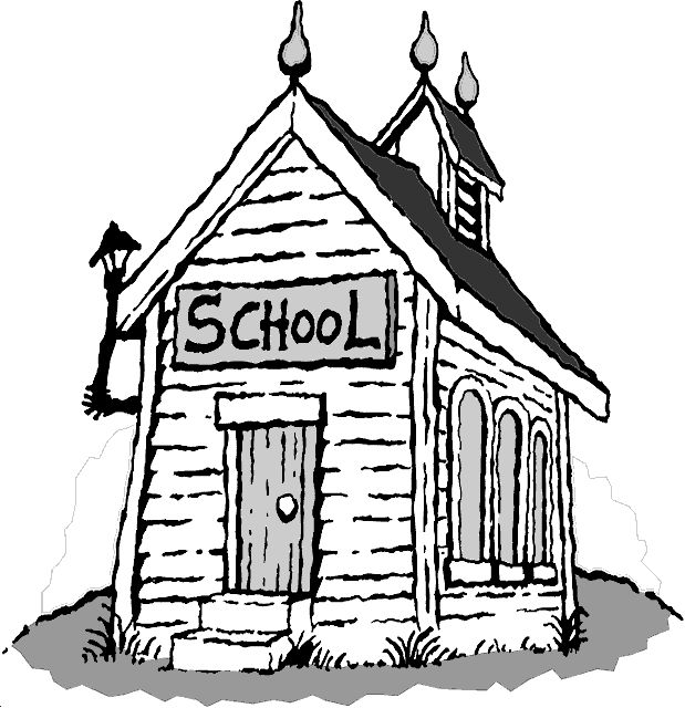 Image Gallery old school building cartoon