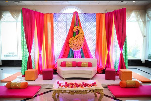 Mehndi Party Hindu : Wedding ceremony backdrop tablescapesbydesign