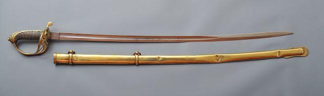 Collection de Sabres et Epées des Guerres Napoléoniennes: Sabre Anglais d'Officier d'Infanterie Modèle 1845 Reine Victoria