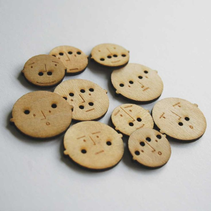Mr. Button - When you sew them on, the thread makes their eyebrows and/or mustaches. - £5