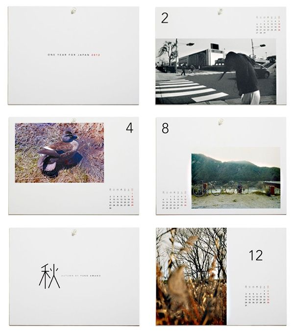 great calendar design  One Year For Japan