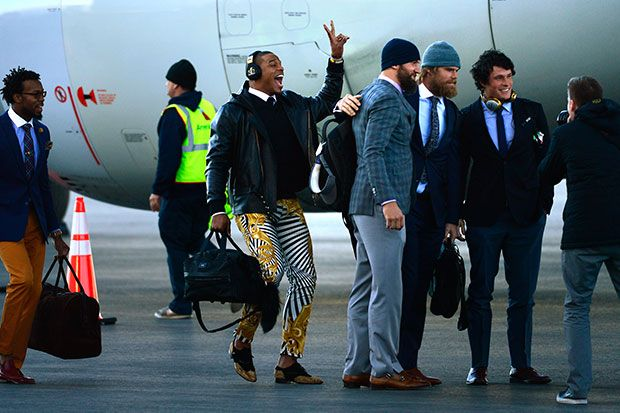 Twitter Goes Nuts Over Carolina Panther Quarterback Cam Newton's $849 Versace Pants