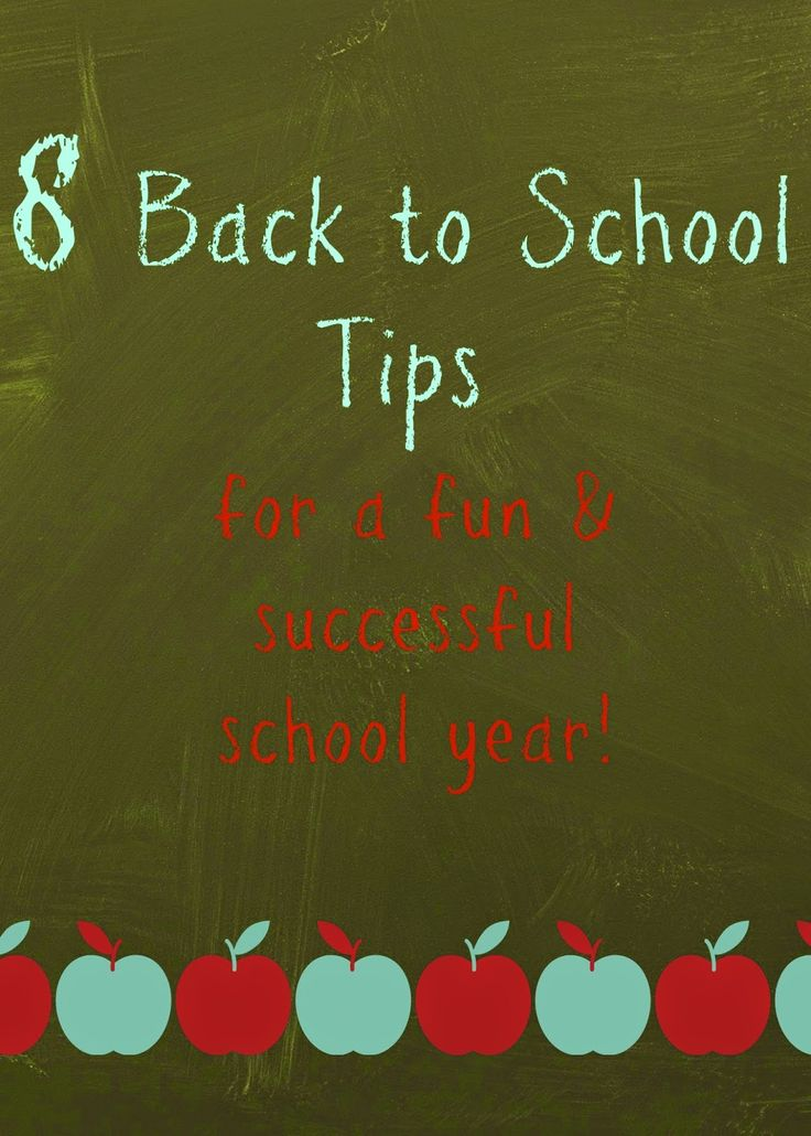 8 Back to School Tips For Parents : The Chirping Moms