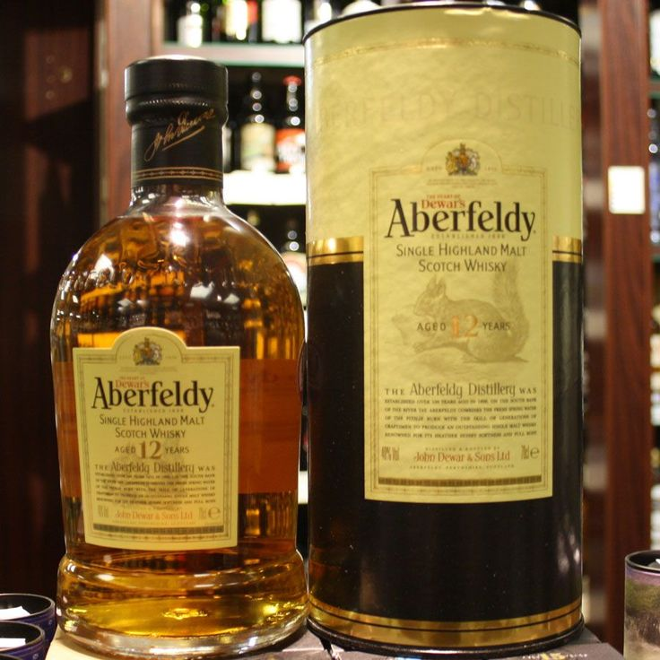 Aberfeldy 12-Year-Old Single Malt Whisky. The Aberfeldy Distillery was established in 1898 on the south bank of the River Tay. It combines the fresh spring water of the Pitilie Burn with generations of craftsmen to produce an outstanding single malt whiskey renowned for its heather honey softness and full body. £32.99