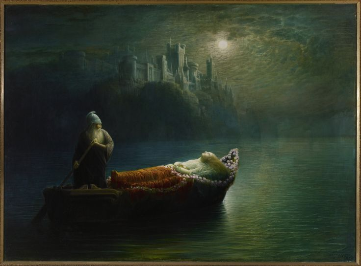 Watson, Homer, (1855-1936), The Death of Elaine, 1877