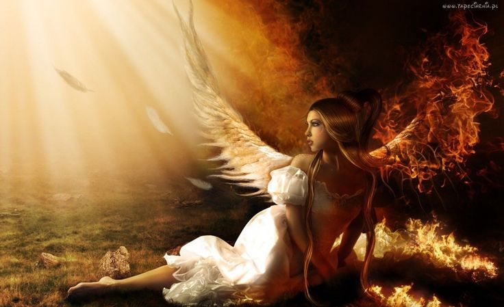 Anioł, Skrzydła, Ogień