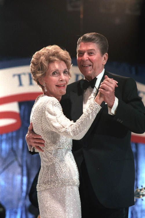 President Reagan and Nancy Reagan dancing at the 1985 Inaugural Ball at the DC Armory in Washington, DC. 1 21 85 | by levanrami