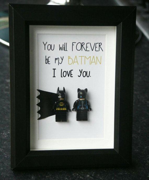 Personalised Batman Superman Gifts frame Birthday Wedding Anniversary Personalised Birthday Gift for him fun Boyfriend Husband Present
