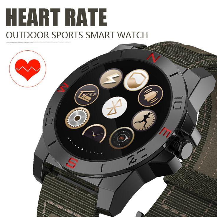 N10B Smart Uhr Outdoor Sport Smartwatch mit Pulsmesser und Kompass Wasserdichte Bluetooth Wach für IOS und Android //Price: $US $58.99 & FREE Shipping //     #clknetwork