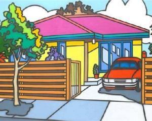 Family Home - Howard Arkley, 1988