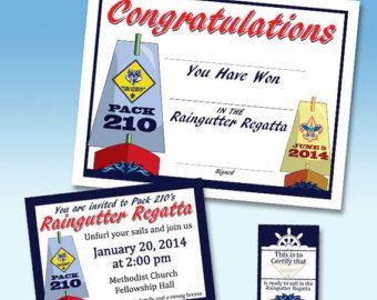 bow cub scouts raingutter regata scouts boats regatta invitations ...