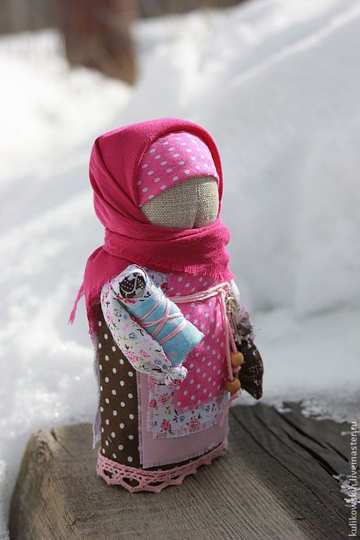 Купить Кукла Домовушечка - розовый, голубой, кукла-оберег, кукла ручной работы, текстильная кукла