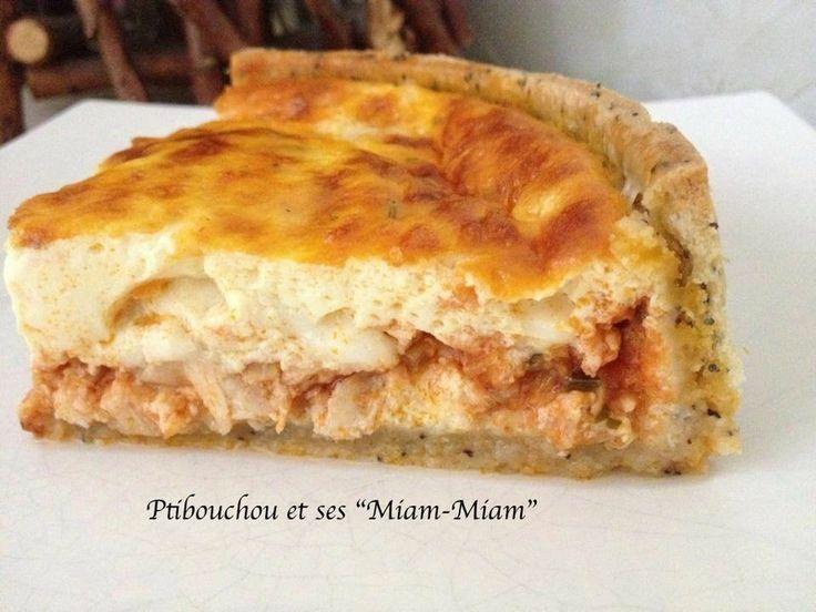Tarte poulet / tomate / mozzarella - pâte brisée aux graines de pavot