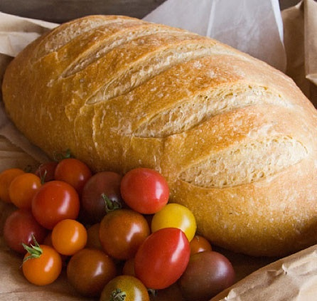 Organic Rustic Country Malt Granary Bloomer, made at the Church Farm Bakery & in your veg box weekly!