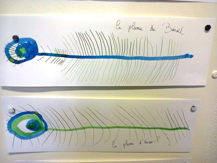 ecoles enfantines - Graphisme, plumes de paon