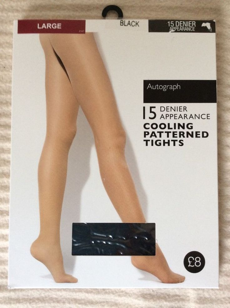 2 items M&S AUTOGRAPH Cooling Patterned TIGHTS size L 15 Den BNWT RRP£16